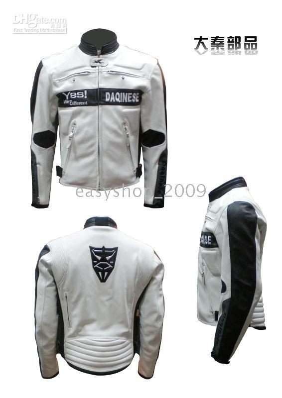 motorcycle racing suit - motorcycle clothing motorcycle racing suit jacket DAQINESE black and white classic cloth A8