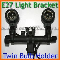 Wholesale Twin E27 Bulb Holder Photo Slave Flash Umbrella Bracket