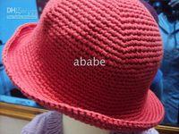 crochet baby caps 0- 8Y children' s fisher hats 2 big flo...