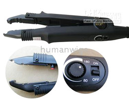 Adjustable Temp Professional Hair Extension Fusion Iron (A1),hair extension connecter iron, 5 items