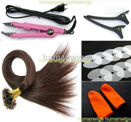 Professional Hair Extension Fusion Kits,20inch,100% Remy U-tip Human Hair Extensions,0.5g pcs,200pcs