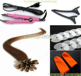 "20"" Remy Nail-tip U-tip Hair Extensions Professional Hair Extension Fusion Kit,#6,all kind tools"