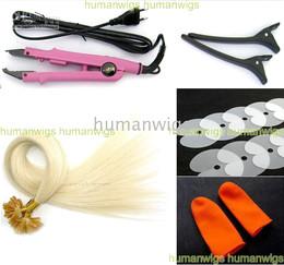 """Professional Hair Extension Fusion Kits 100% Nail-tip hair Extensions,#613,20"""",200pcs,0.5g all tools"""