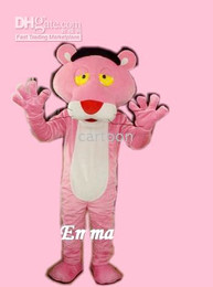 Wholesale pink panther Mascot Costume Fancy Dress Costume Free S H
