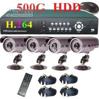 Wholesale CCTV H Network DVR CCD IR Camera Security System Home Security Shop Security