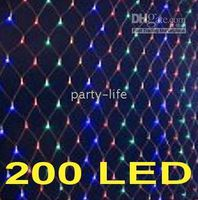 Color 200 LED BIG NET light for wedding Party garden decorat...