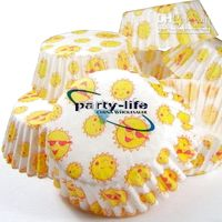 Wholesale tart cake chocolate paper cases cupcake with Smile pattern total Diameter is cm box