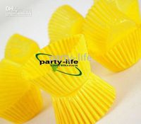 Wholesale tart cake chocolate paper cases cupcake Yellow total Diameter is cm box