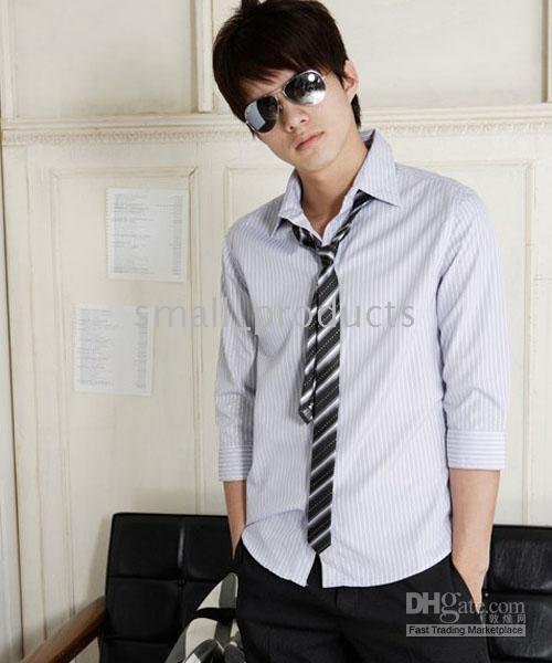 С чем носят узкий галстук