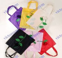 Wholesale 500pcs Rose Folding Reusable Recycle Shopping Bags Reusable Bag Mixed Colors