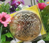 Wholesale The noble golden color two sided puts on make up the mirror magnificently and expensively to surpass