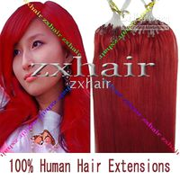 "100S 16"" Micro rings loop 100% remy Human Hair Extensio..."