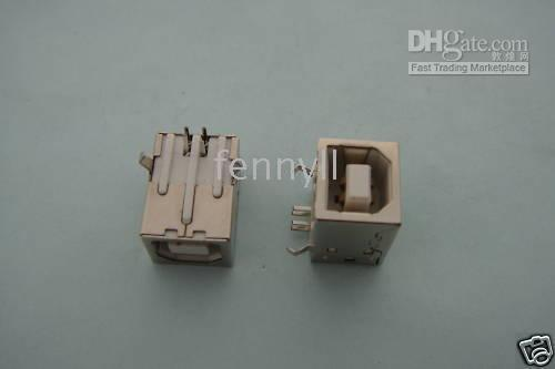 Wholesale 4 pin Female USB Socket Right Angle PCB Connector BF90 per