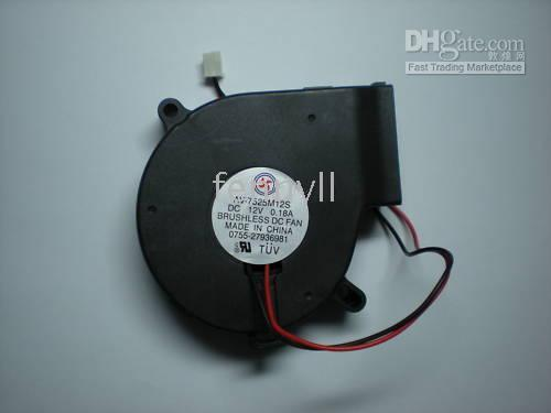 Wholesale Brushless DC Cooling Blower Fan V x25mm Black A per