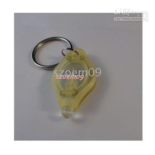 Wholesale 10 x II2 Micro Light LED Keychain Flashlight yellow