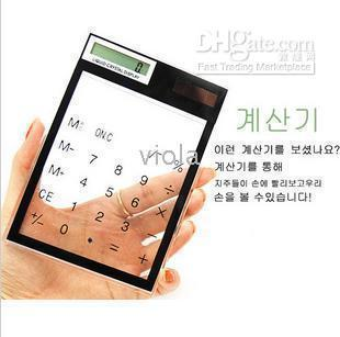 Wholesale Solar Powered Touch Screen Electronic LCD Calculator