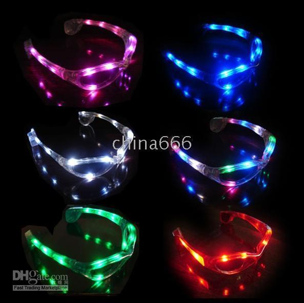 Wholesale 48pcs Women s Fancy Ball Halloween LED flash glasses fasion decoration for party dancing