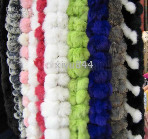 Wholesale NEW Women s Winter warm Rabbit Fur scarf Scarves C
