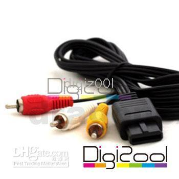 cable for tv game - AV Audio Video Cable for Nintendo N64 Gamecube TV Game System black new hot