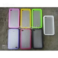 Wholesale iPhone G Case TPU Frame Bumper Back Cover with Sand Grinding Surface amp Strap Hole or
