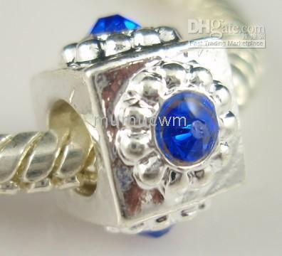 Wholesale Mixed New arrival Silver Big Hole Beads Fit Bracelets amp Necklaces