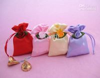 Wholesale brocade silk fabric gift bags wrap with rose for wedding red light gold cm