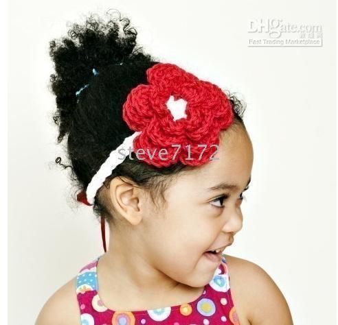 Crochet   Crochet head band girls Headbands hairpin baby hair bow clips flower knitting Headband clipper CL665