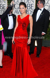Wholesale Golden Globe Red Prom Ball Women s Celebrity Evening Gowns Dresses US size