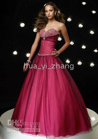2011 prom - 2011 Ball Gown Evening Homecoming Prom Dress Strapless Beaded Floor Length Satin and Organza