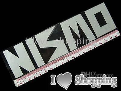 big car decals - NISMO WHITE BIG Car Decal Sticker Auto logo reflect light within x9cm CF0017