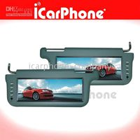 Wholesale 2 of quot SUN VISOR MONITOR TFT LCD DVD TV screen wide view angle Car sunvisor electronics