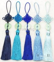 Wholesale Handwork Car Ornaments Hanging Pendant Fashion Home Office Decor China knot Hanging mix Free
