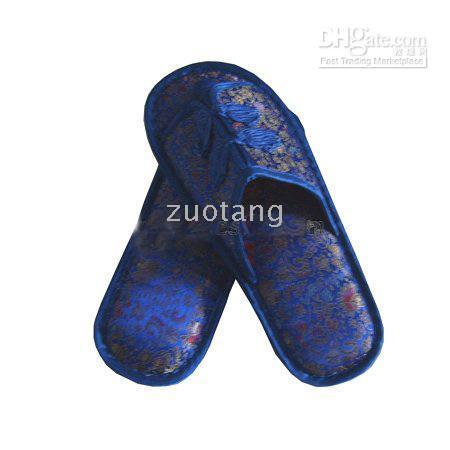 Wholesale Handmade Men s Slippers Hotel Slipper High grade China knot Silk Flower Loafer Shoes pair mix Free