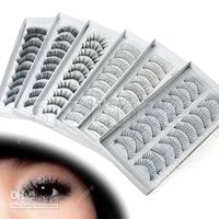 Wholesale Brand new Pair Style Long False Eyelashes Eyelash Eye Lashes shipped by HK POST