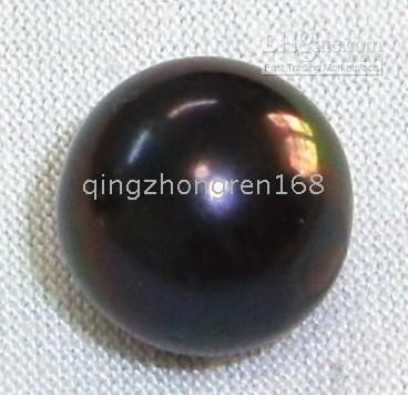 Wholesale AAAAA CHARMING HUGE PERFECT BLACK LOOSE PEARL HALF DRILL MM