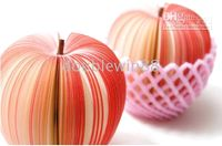 Wholesale Nolvety items Cute Fresh Red Fruit Shape Mini Notebook Self Adhesive Note Writing Pad Gift