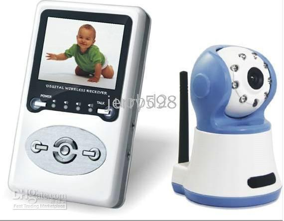 Wholesale W386D1 Digital Wireless Video Baby Monitor camera inch LCD TV Line Night visition