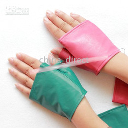 fingerless Leather Suede Gloves half gloves real goat Leather gloves 20pairs lot #1513