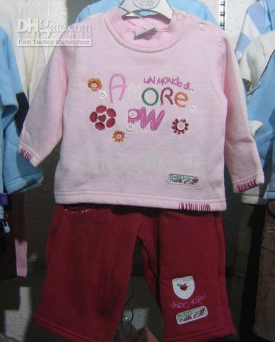 baby sweat suits - Baby Sweat Suit Tracksuits Sets HOODED sweatsuit coat Top pants Jumper sets set new