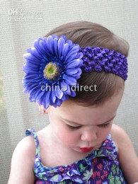 Girl lace hairbow hairband hair band head band headband -satin crochet headband baby hair bow New