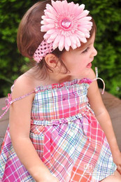 Girl lace hairbow hairband hair band head band headband -satin crochet headband baby hair bow NICE