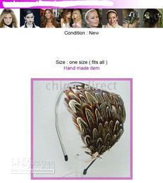 CHIC CELEBRITY FEATHER HAIR head band Hair band FASCINATOR Hollywood STAR style 30pcs lot