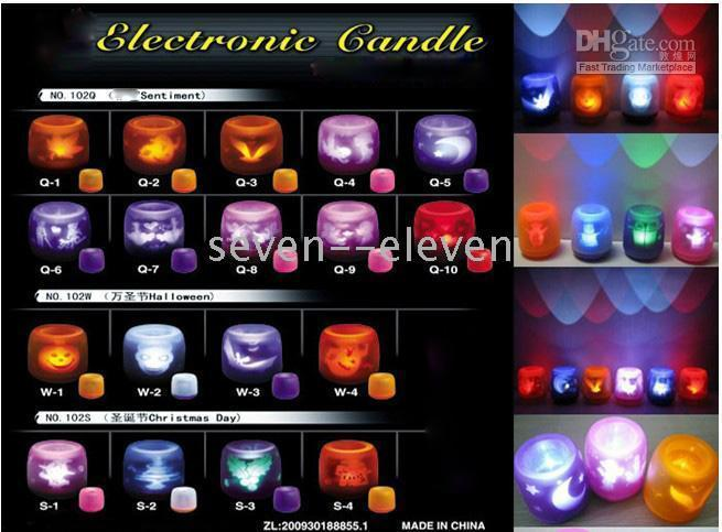 Wholesale Electronic LED Voice Control Flameless Party Candle Light Magic LED Candles for Xmas Halloween