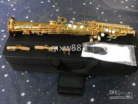 Wholesale new arriving high quality cool GOLDED STRAIGHT Soprano Saxophone SAX