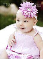 Headbands Plastic Floral Wholesale - Crochet head band bow clip flower Crochet girls Hair bands hairpins baby hai--DYQ 281