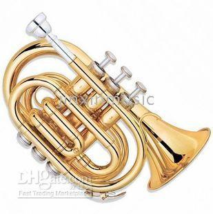 Wholesale Drop B Trumpet No palm Miniature Trumpet Pocket trumpet Musical Instruments