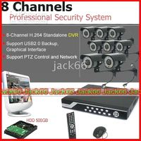 Wholesale 8 channel CCTV H DVR system Inch TV Lines LED mm CCTV Vandal Camera GB