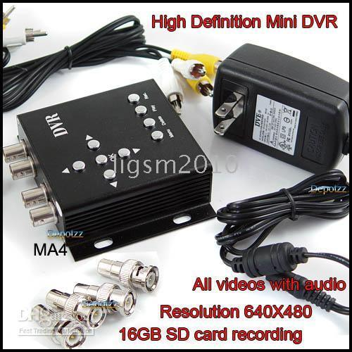 Wholesale HD CH Realtime MPEG4 Mini Motion Detect digital video recorder w SD Slot upto G