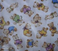 Wholesale FC242 Tendy Bear Party cotton fabric for pajamas pillowslip quilt yard cloth bedding