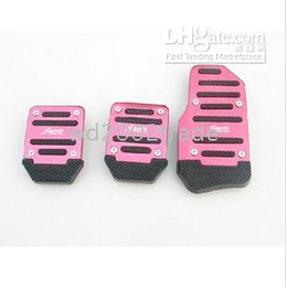 Wholesale 20pcs Car Pedal Slip Pads Truck parts for Manual transmission PINK FOR lady